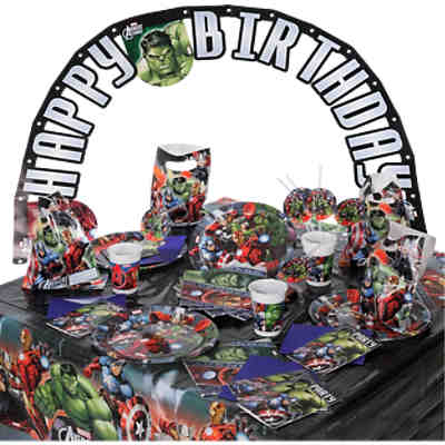 Partyset Marvel Avengers Power, 56-tlg.