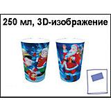 """Стакан """"Новогодний"""" с 3D-изображением, 250 мл"""