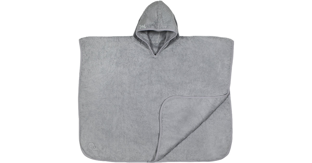 Badeponcho, grau, 60 x 70 cm