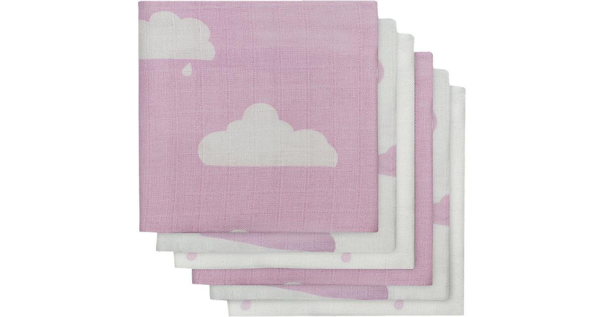 Mullwindel, Wolke, rosa, 70 x 70 cm, 6er-Pack
