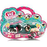 Фигурки собачек в комплекте с косточками и поводком, Pet Parade