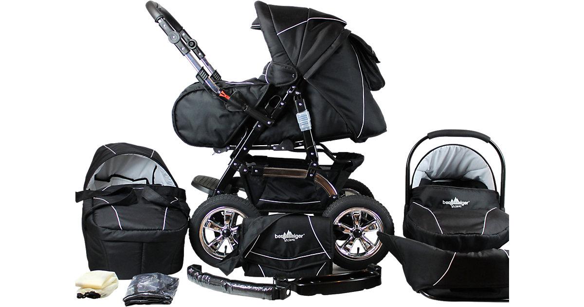 Kombi Kinderwagen Milano, 10 tlg., black edition schwarz