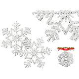 """Набор украшений """"Снежинки с блестками"""" (2 шт), диаметр 16 см"""