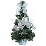 Декоративная елка с серебряными украшениями, 30 см