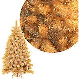 Золотая елка 150 см (240 веток) на металлической подставке