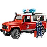 Внедорожник Land Rover Defender Пожарная с фигуркой, Bruder
