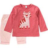 Baby Set Langarmshirt + Hose für Mädchen, Organic Cotton
