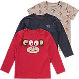 Langarmshirt Doppelpack + T-Shirt für Jungen
