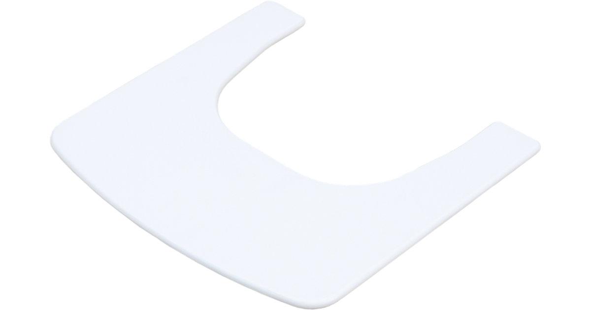 Ess- & Spielbrett zu Treppenhochstuhl Weiß weiß Gr. 45 x 45