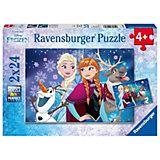 Puzzle Disney Die Eiskönigin Nordlichter 2 x 24 Teile