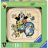 Holzpuzzle Maulwurf tanzt 5 Teile