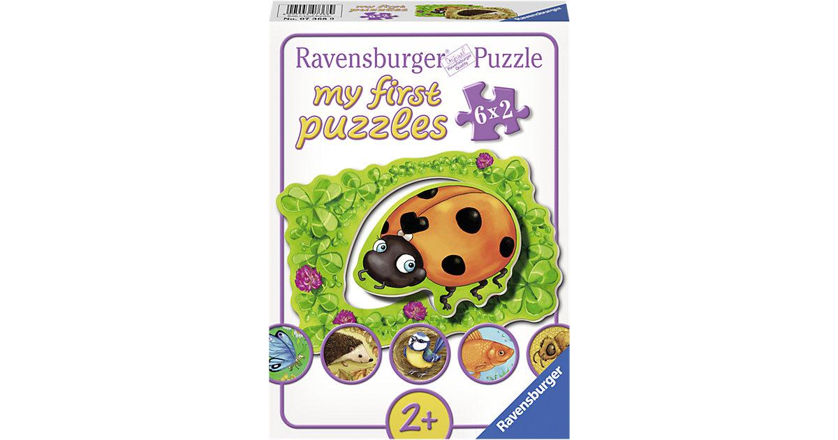 my first Puzzle Wo die Tiere wohnen 6 x 2 Teile