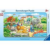 Пазл «Прогулка по зоопарку», 15 деталей, Ravensburger