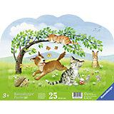 Rahmenpuzzle Verspielte Tierkinder 25 Teile