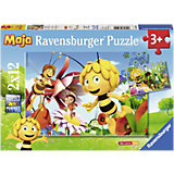Puzzle Biene Maja auf Blumewiese 2 x 12 Teile