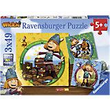 Puzzle Wickie der kleine Wikinger 3 x 49 Teile