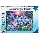 Puzzle Einhörner im Abendrot 150 Teile