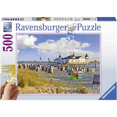 Puzzle Strandkörbe in Ahlbeck, Ostsee, 500 Teile