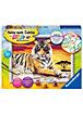 Malen nach Zahlen Majestätischer Tiger