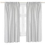 Vorhang Set, Wolke grau, je 130 x 150 cm (2 Schals)
