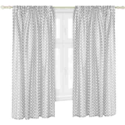 Vorhang sterne inkl b gelband grau wei 140 x 245 cm 2 - Kinderzimmer vorhang sterne ...