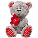 Медведь с красным цветком, 28 см., LAVA