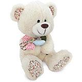 Медвежонок с декоративным цветком, музыкальный, 22 см., LAVA