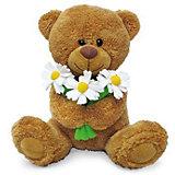 Медвежонок Сэмми с ромашками, музыкальный, 18 см., LAVA