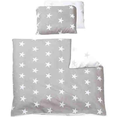 wende babybettw sche dots renforc grau 80 x 80 cm alvi mytoys. Black Bedroom Furniture Sets. Home Design Ideas