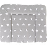 Wickelauflage soft, 85 x 75 cm, little Star grau