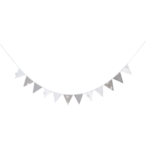 Wimpelkette Little Star grau, 280 cm