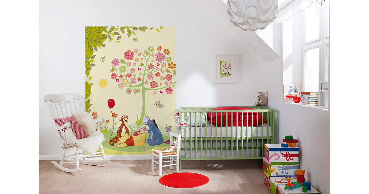 komar products fototapete komar disney winnie pooh cheerful 1 409 xxl poster preisvergleich. Black Bedroom Furniture Sets. Home Design Ideas