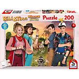 Puzzle Bibi & Tina, Mädchen gegen Jungs, 200 Teile