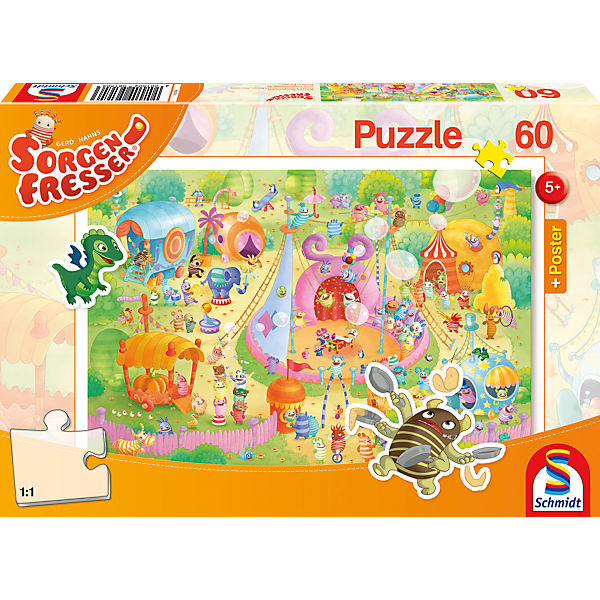 Sorgenfresser: Manege frei! Puzzle inkl. Poster, 60 Teile