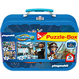 Puzzlekoffer PLAYMOBIL® Super 4, 2 x 60, 2 x 100 Teile