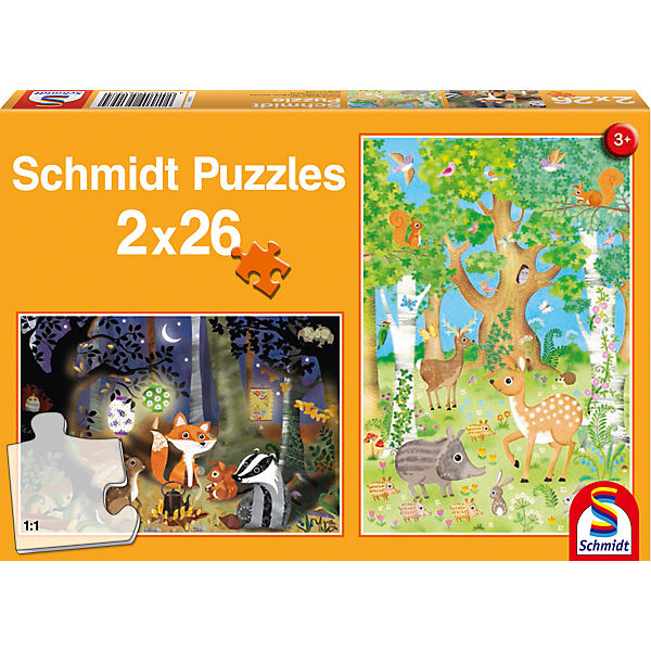 Puzzleset Waldtiere, 2 x 26 Teile