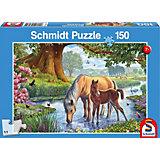 Puzzle Pferde am Bach, 150 Teile
