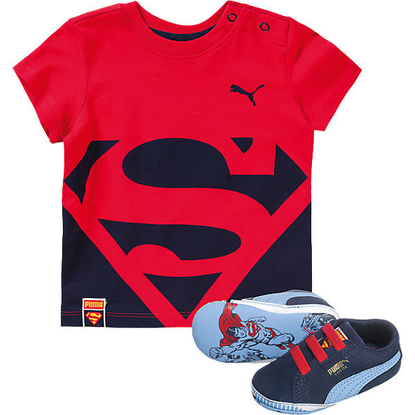 Crib pack Superman Sneakers & T-Shirt für Jungen