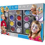 Clowny Mega-Schminkset, 24-tlg.
