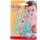 Маникюрный набор для малыша, Nuby, зеленый