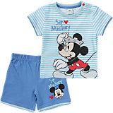 DISNEY MICKEY MOUSE Baby Set T-Shirt + kurze Hose für Jungen