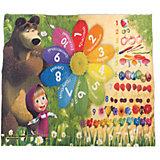 """Ковер """"Цифры и счет"""" 133*195 см, Маша и Медведь"""