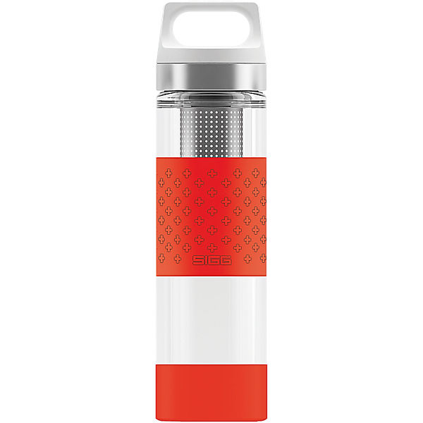 SIGG Trinkflasche Hot & Cold Glass WMB Red, 0,4 l