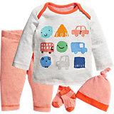 Baby Set Langarmshirt + Hose + Söckchen + Mütze  für Jungen