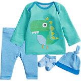 Baby Set Langarmhshirt + Hose + Söckchen + Mütze  für Jungen