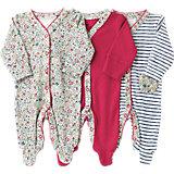 Baby Schlafstrampler 3er-Pack für Mädchen