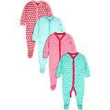 Baby Schlafstrampler 4er-Pack für Mädchen