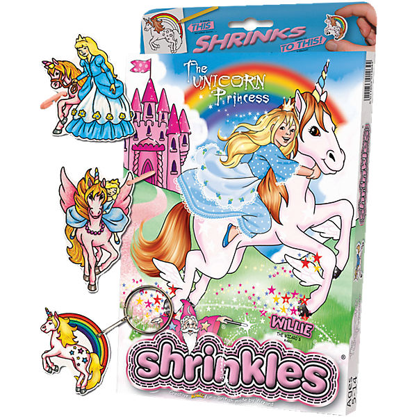 Willie Kreativset Schrumpffolie Unicorn Princess