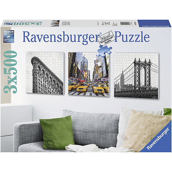 Puzzleset New York City Impressionen 3 x 500 Teile