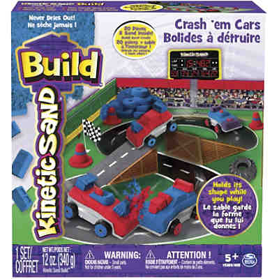 Kinetic Sand Build Crash Em Cars